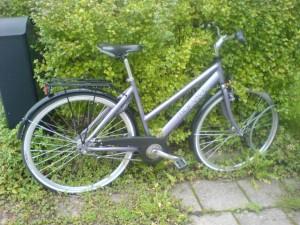 Linnéas cykel. Väntar.