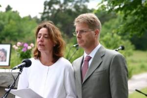 Jag och Johan på begravningen