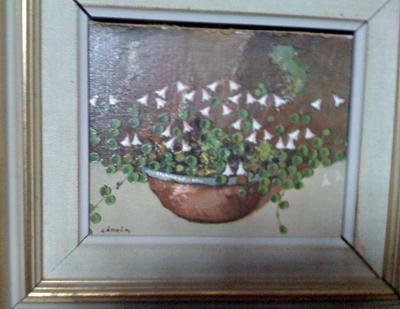 Linnéas tavla som hon fått av min morfar