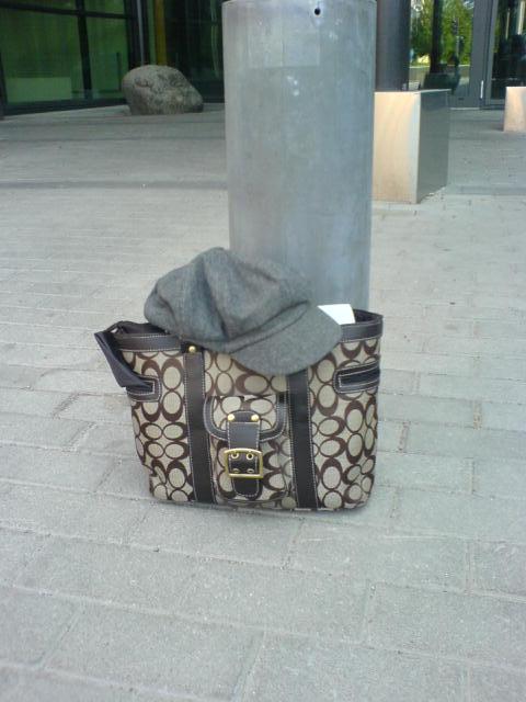 Väskan och kepsen