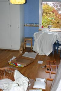 Jonas rum (före) med lillasysters saker
