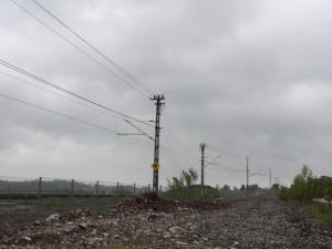Tågspåret maj 2015 med staket!